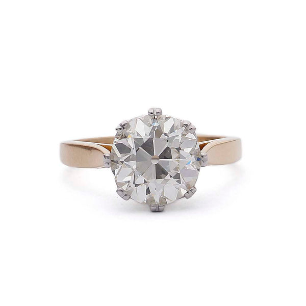 Replica Edwardian Engagement Ring #3463-1 - Leigh Jay & Co.