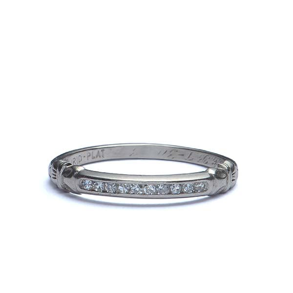 Vintage platinum wedding band circa 1938 #3r050-20