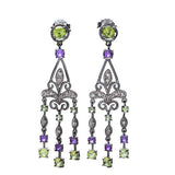 Vintage inspired Filigree Chandelier earings. #7242E-AP - Leigh Jay & Co.