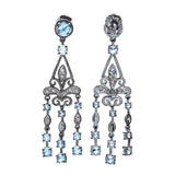 Vintage inspired Filigree Chandelier earings. #7242E-BW - Leigh Jay & Co.