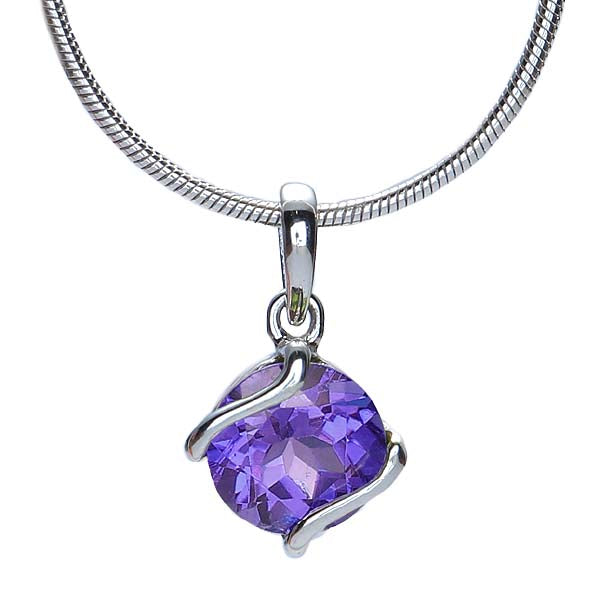 Silver and Amethyst Pendant #7274P-ACH - Leigh Jay & Co.