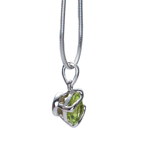 Silver and Peridot Pendant #7274P-PCH - Leigh Jay & Co.