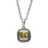 Sterling Silver and 18K gold Citrine Pendant #8252P-CCH - Leigh Jay & Co.