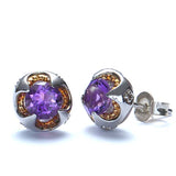 Amethyst Post earrings #8275E-AM - Leigh Jay & Co.
