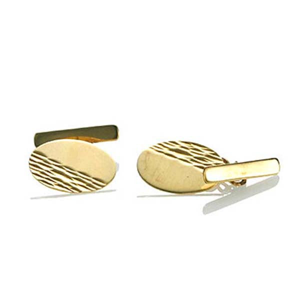 Contemporary 9k gold English Cufflinks #Cuff-09 - Leigh Jay & Co.