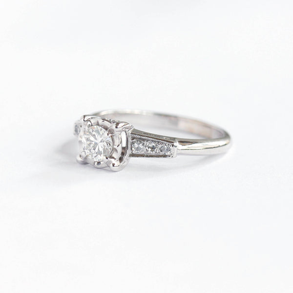 Circa 1940s Engagement Ring #VR200301 - Leigh Jay & Co.