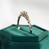 Replica Art Deco Engagement ring #3334-8 - Leigh Jay & Co.
