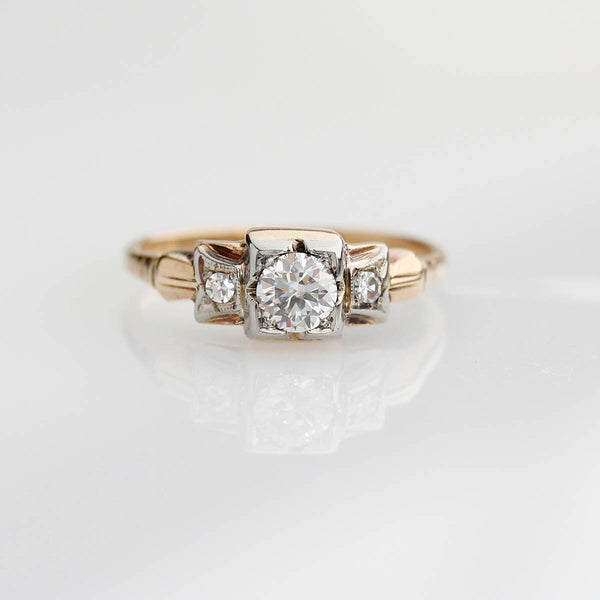 Circa 1940s Engagement Ring #VR160311-06 - Leigh Jay & Co.