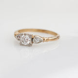 Circa 1940s two tone gold Engagement Ring #R570-09 - Leigh Jay & Co.