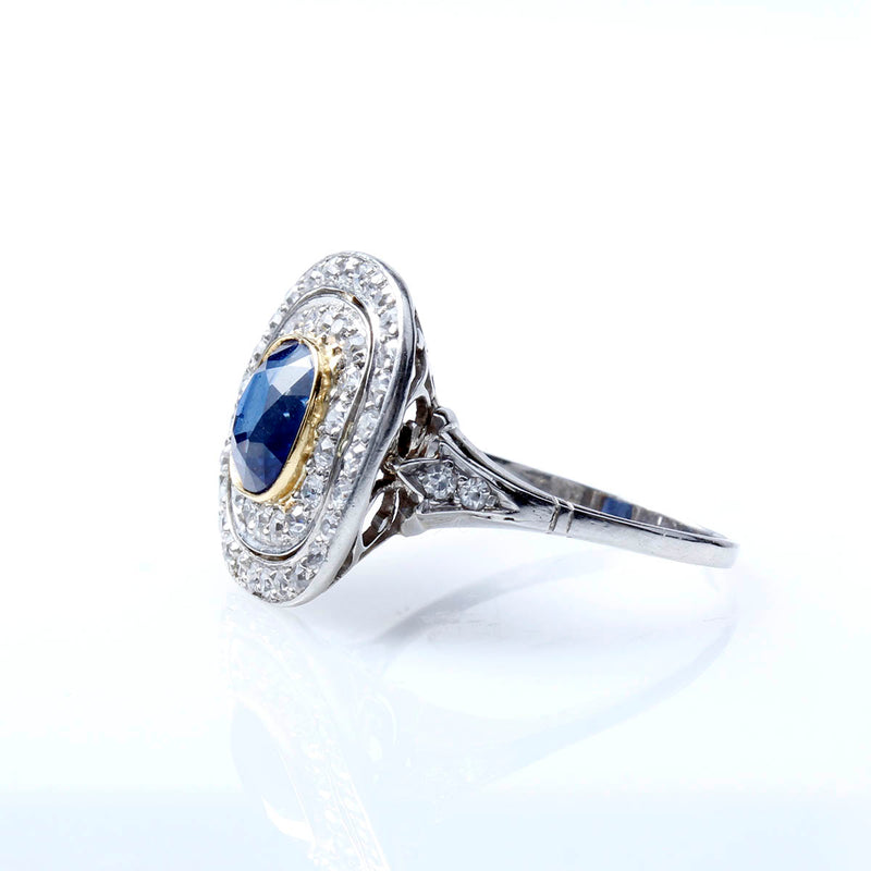 Edwardian Sapphire Engagement Ring #VR201209-2