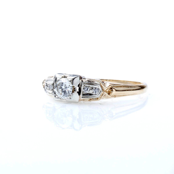 Retro 1940s Engagement Ring #R193-01