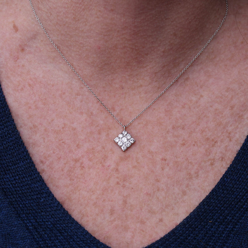 Estate Diamond Pendant #P191025-3 - Leigh Jay & Co.