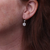 Dangling diamond cluster earrings #VER191114-1 - Leigh Jay & Co.