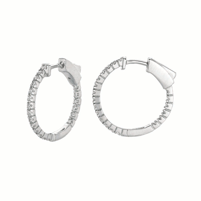 Slim Diamond Hoop Earrings #LE5157