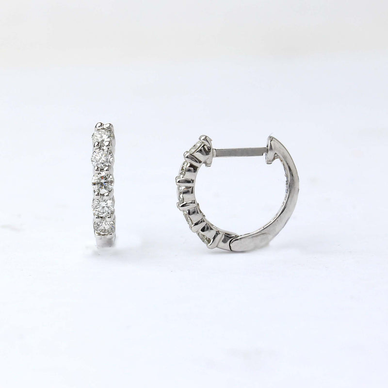 .50 Carat Diamond Huggie Hoop Earrings #LE5281
