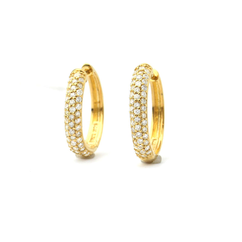 Pave' Diamond Hoop Earrings #LE5628