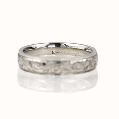 Engraved Gents wedding band #ENG-5.1MM - Leigh Jay & Co.