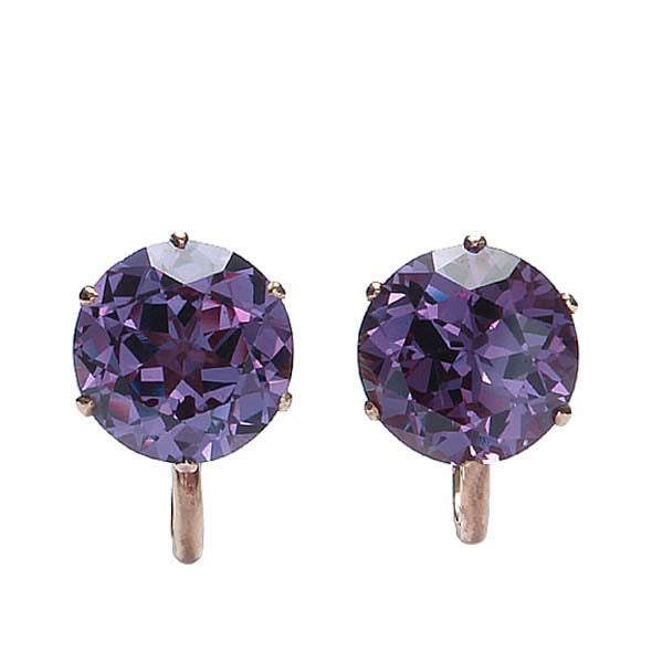 MidCentury Color Change Sapphire Earrings #ER566-15 - Leigh Jay & Co.