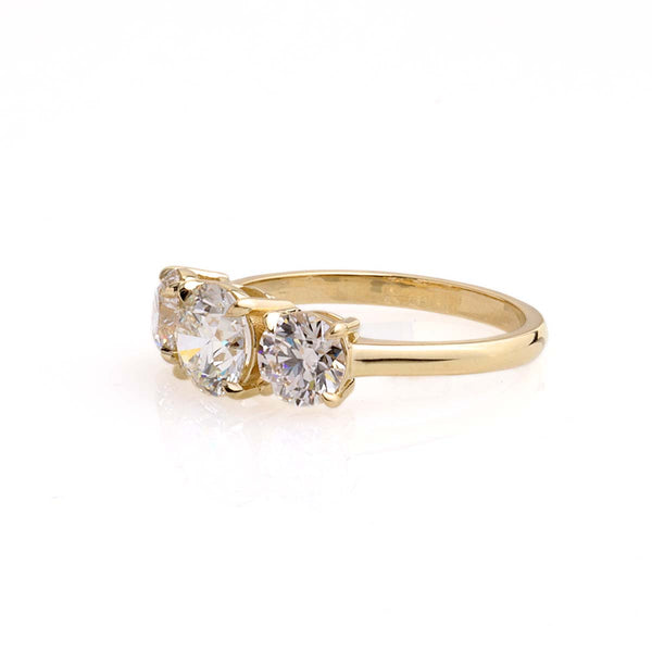 Classic Three Stone Diamond Engagement Ring #3472-1