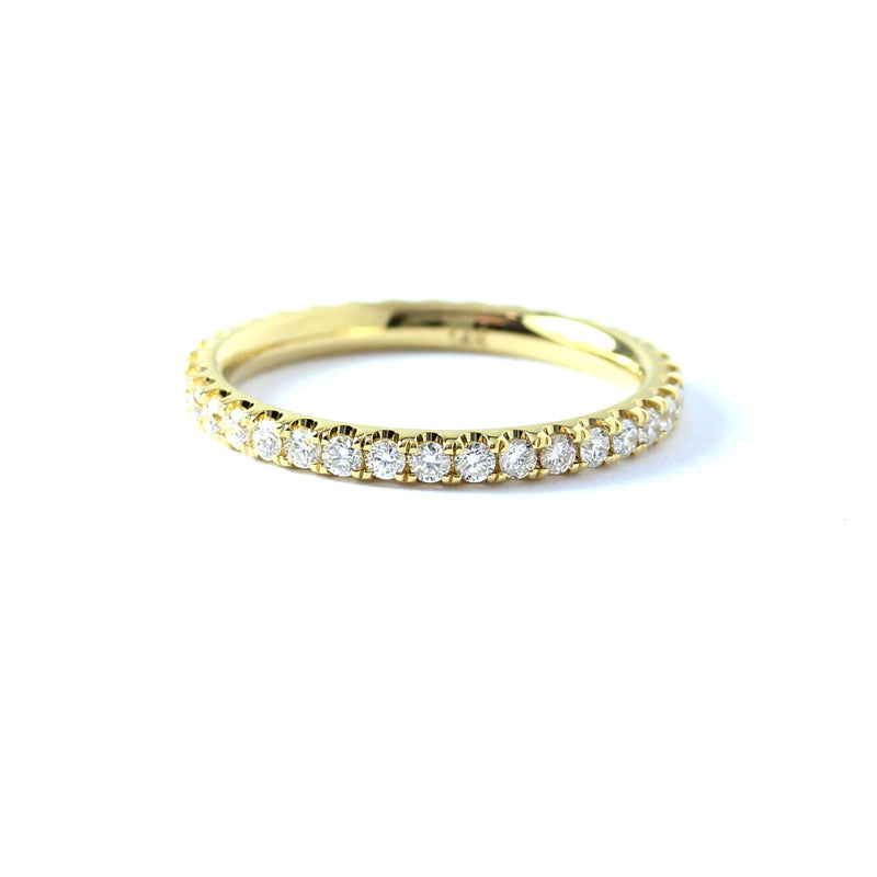 French Pave Diamond Eternity Band #LE4001 - Leigh Jay & Co.
