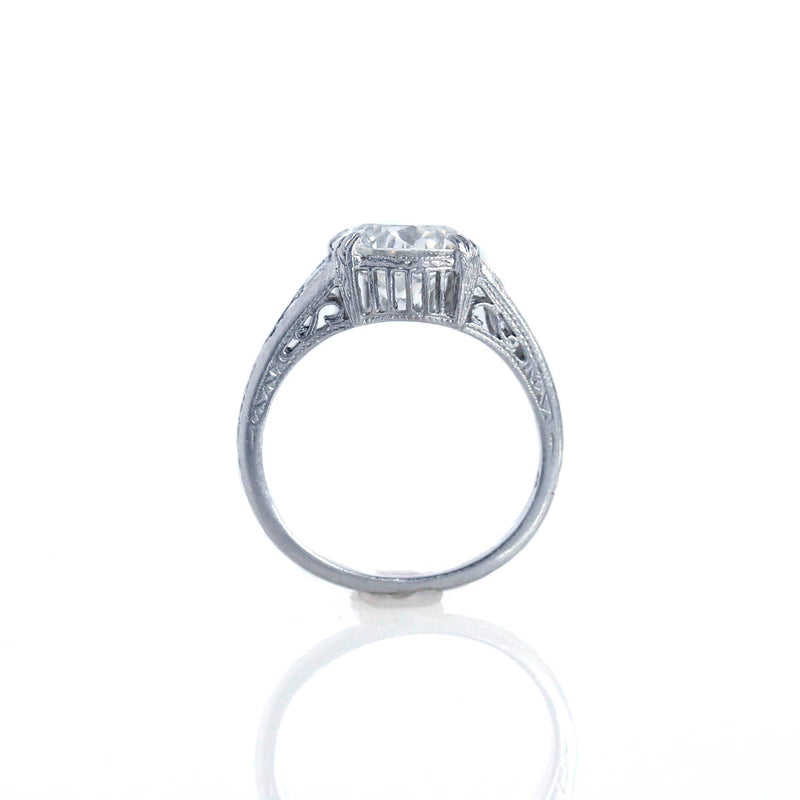 Replica Art Deco Engagement Ring #1R312