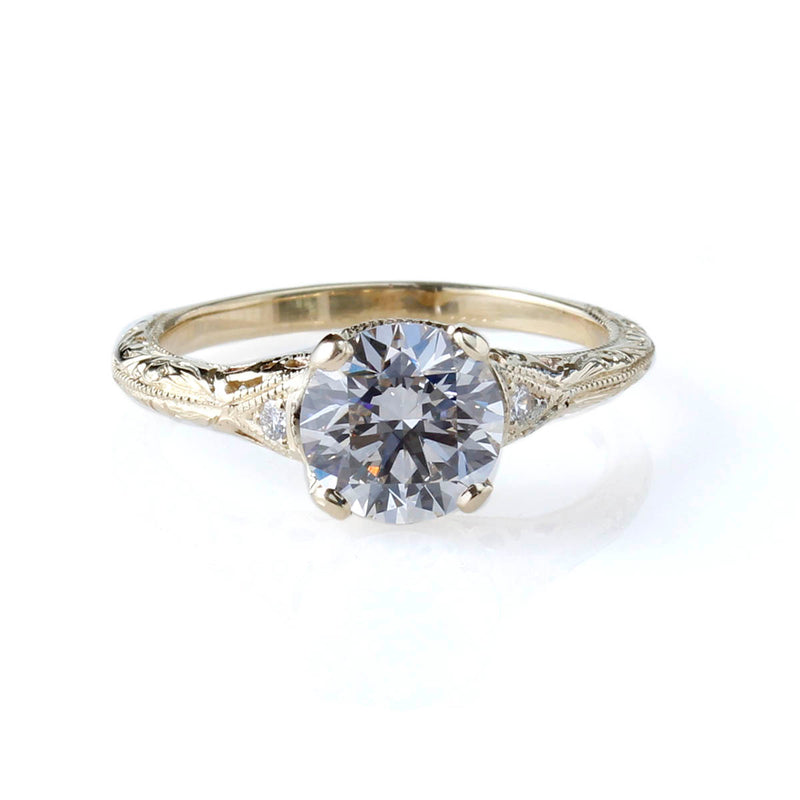 Replica Edwardian Engagement Ring #3257-27