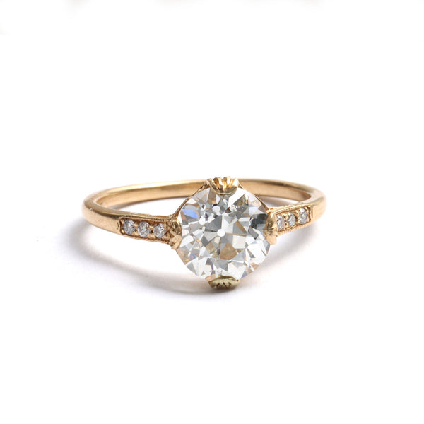 Replica Edwardian Engagement Ring with Vintage Diamond #3144-21