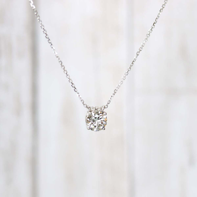 Classic Lab Grown Diamond Pendant #PDT-LG-1.11