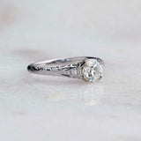 Replica Edwardian Engagement Ring #3257-26 - Leigh Jay & Co.