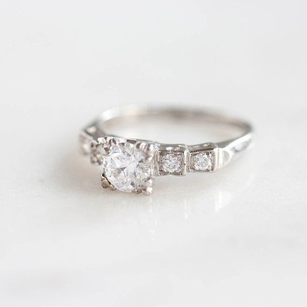 Art Deco Engagement Ring #VR200715-2 - Leigh Jay & Co.
