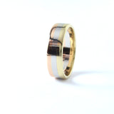 Contemporary Men's Wedding Band #LT-YPR-1 - Leigh Jay & Co.