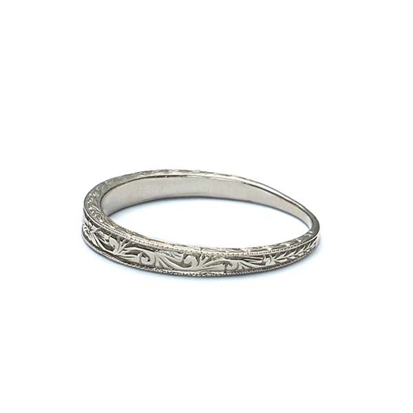 Replica Art Deco Wedding band #L1001 14K - Leigh Jay & Co.
