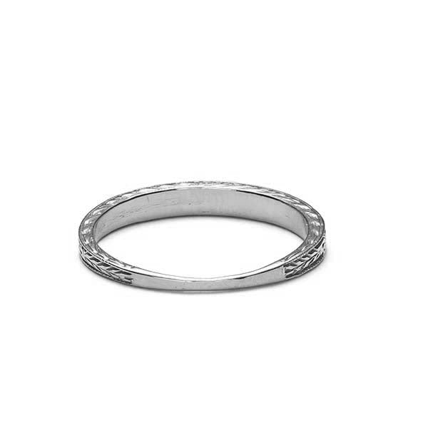Replica Art Deco Tapered Band #L1001R18 - Leigh Jay & Co.