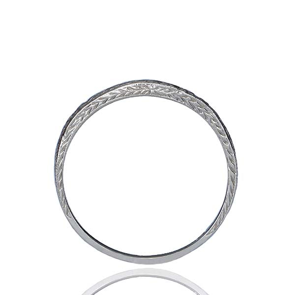 Platinum Contoured Wedding Band #L1011R18 - Leigh Jay & Co.
