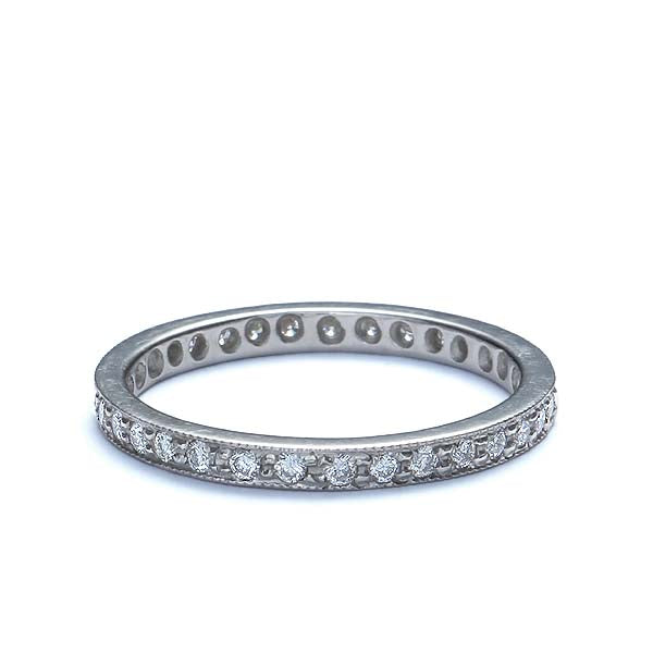 18k Diamond Eternity Band #L1036EPT - Leigh Jay & Co.