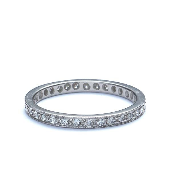 Platinum Diamond Eternity band #L1036E PLAT-2 - Leigh Jay & Co.