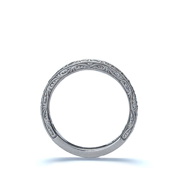 14k Diamond Wedding Band #L1065 14K - Leigh Jay & Co.