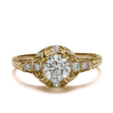 Replica art deco domed engagement ring #L1071 - Leigh Jay & Co.