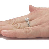 Replica Edwardian Crown Engagement ring #L1078 - Leigh Jay & Co.