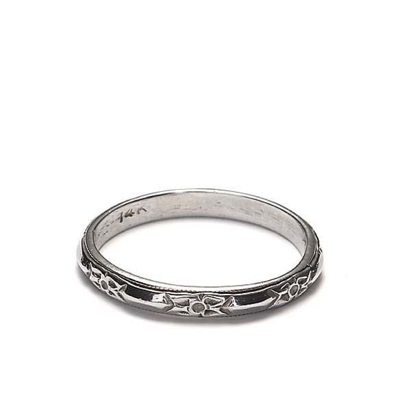 14k Wedding Band #L1096WBW14-1 - Leigh Jay & Co.