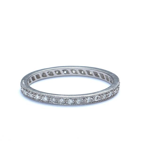 Platinum Diamond Eternity Wedding Band #L1107 PLAT-6 - Leigh Jay & Co.