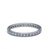 Platinum Diamond Eternity band #L1107 PLAT-2 - Leigh Jay & Co.