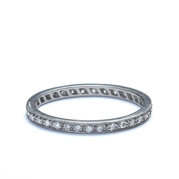 14k Diamond Eternity Band #L1107 14K-1 - Leigh Jay & Co.