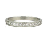 Platinum Diamond Wedding Band #L1107T PLAT - Leigh Jay & Co.
