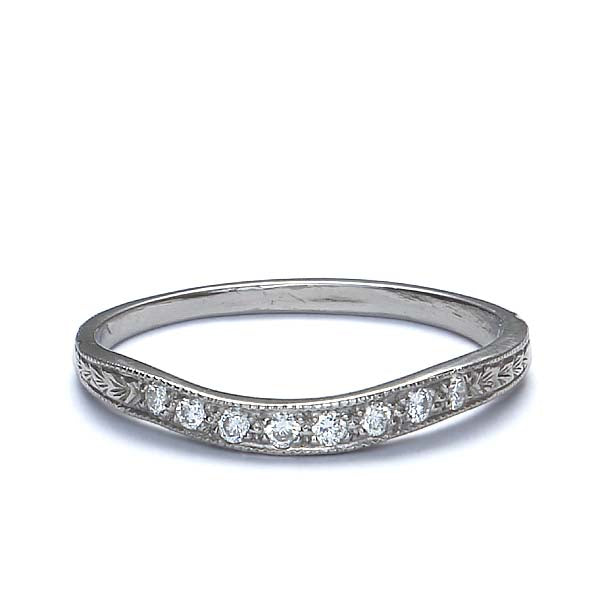 Platinum Diamond Wedding Band #L1120 PLAT-4 - Leigh Jay & Co.