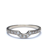 14k Diamond Wedding Band #L1129 14K - Leigh Jay & Co.