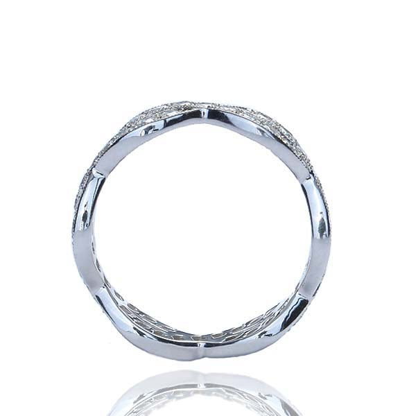 Platinum Diamond Wedding Band #L1200 PLAT  6 - Leigh Jay & Co.