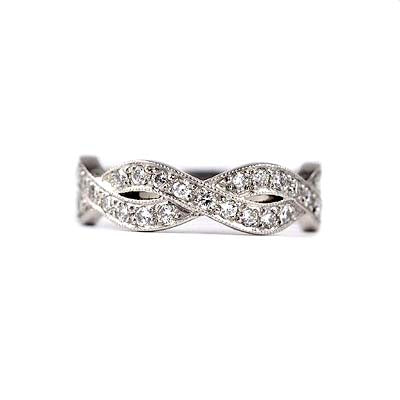 14K Diamond Wedding Band #L1201 14K - Leigh Jay & Co.