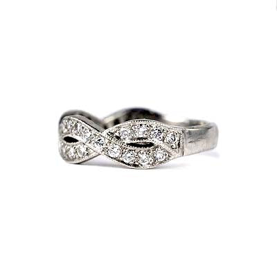 14K Diamond Wedding Band #L1201 14K