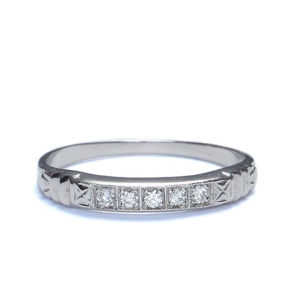 Replica Art Deco Wedding Band #L1260WB 14K